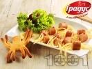 Рецепта Страшни паячета за Хелоуин с кренвирши и спагети